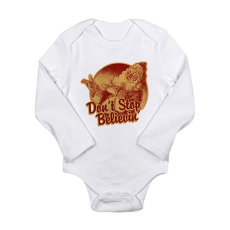 Don't Stop Believing in Santa Long Sleeve Infant B