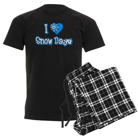 I Love [Heart] Snow Days Mens Dark Pajamas
