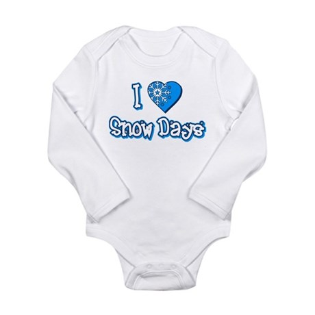 I Love [Heart] Snow Days Long Sleeve Infant Bodysu