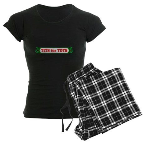 Tits for Tots Womens Dark Pajamas