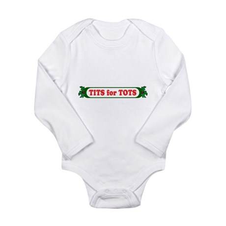 Tits for Tots Long Sleeve Infant Bodysuit