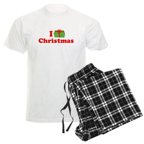 I Love [Present] Christmas Mens Light Pajamas