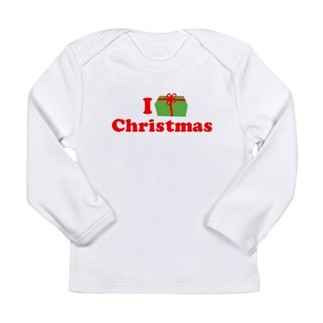 I Love [Present] Christmas Long Sleeve Infant T-Sh
