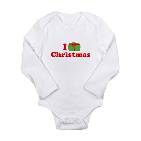 I Love [Present] Christmas Long Sleeve Infant Body