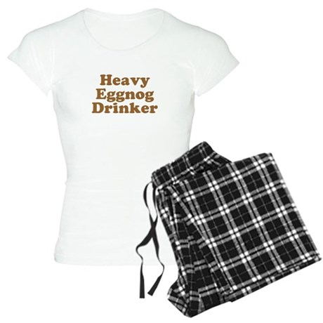 Heavy Eggnog Drinker Womens Light Pajamas