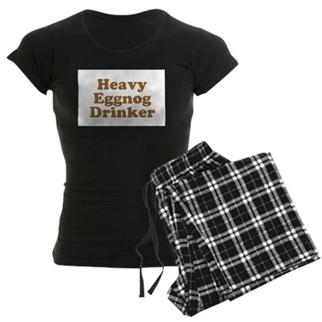 Heavy Eggnog Drinker Womens Dark Pajamas