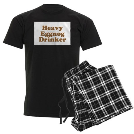 Heavy Eggnog Drinker Mens Dark Pajamas