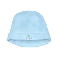 Kiss me under the mistletoe baby hat