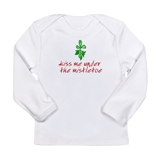 Kiss me under the mistletoe Long Sleeve Infant T-S