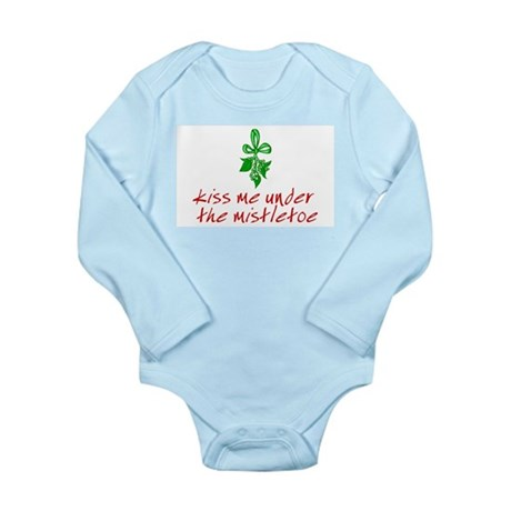 Kiss me under the mistletoe Long Sleeve Infant Bod