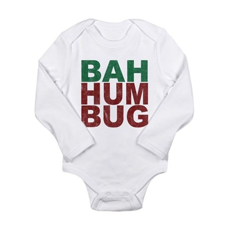 Bah Humbug Long Sleeve Infant Bodysuit