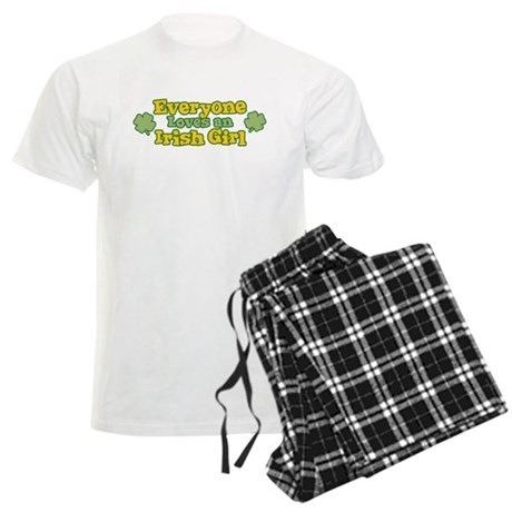 Irish Girl Mens Light Pajamas