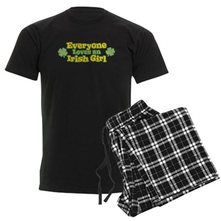 Irish Girl Mens Dark Pajamas