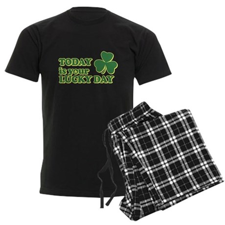 Today Is Your Lucky Day Mens Dark Pajamas