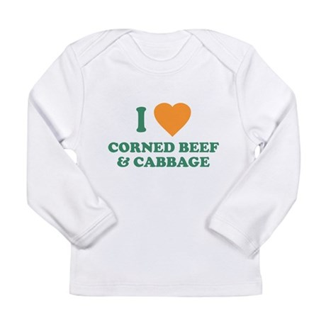 I Love Corned Beef & Cabbage Long Sleeve Infan