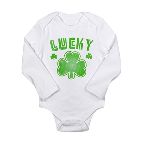 Lucky Long Sleeve Infant Bodysuit
