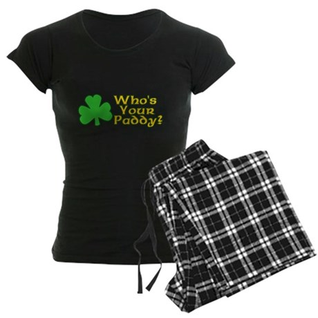 Who's Your Paddy? Womens Dark Pajamas