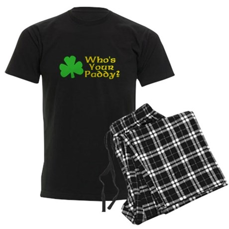 Who's Your Paddy? Mens Dark Pajamas