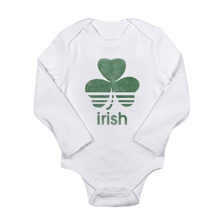 Vintage Irish Logo Long Sleeve Infant Bodysuit