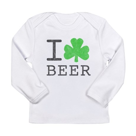 Vintage I Shamrock Beer Long Sleeve Infant T-Shirt