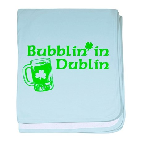 Bubblin' in Dublin baby blanket