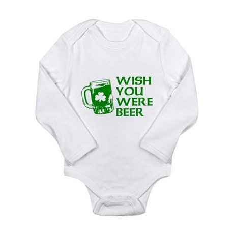 Wish You Were Beer Long Sleeve Infant Bodysuit