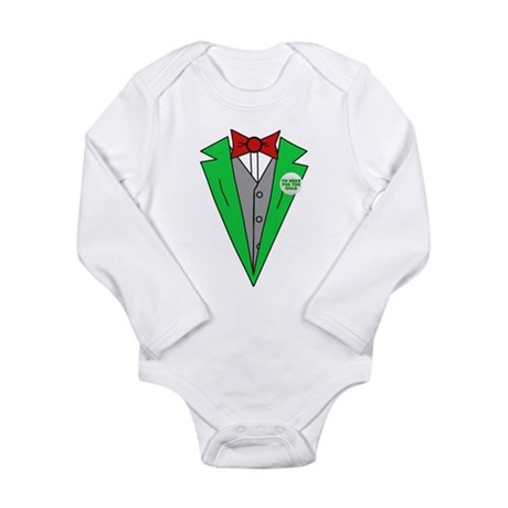 Irish Tuxedo T-Shirt Long Sleeve Infant Bodysuit