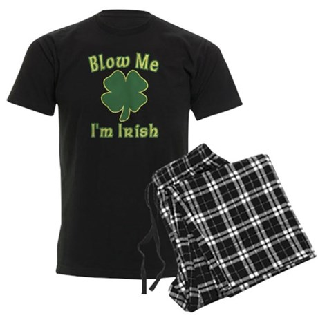 Blow Me I'm Irish Mens Dark Pajamas