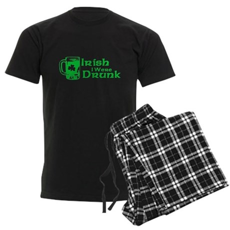 Irish I Were Drunk Mens Dark Pajamas