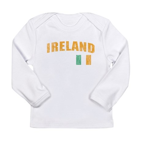 Vintage Ireland Soccer Long Sleeve Infant T-Shirt