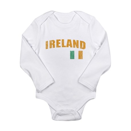Vintage Ireland Soccer Long Sleeve Infant Bodysuit