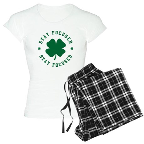 Irish Stay Focused Womens Light Pajamas