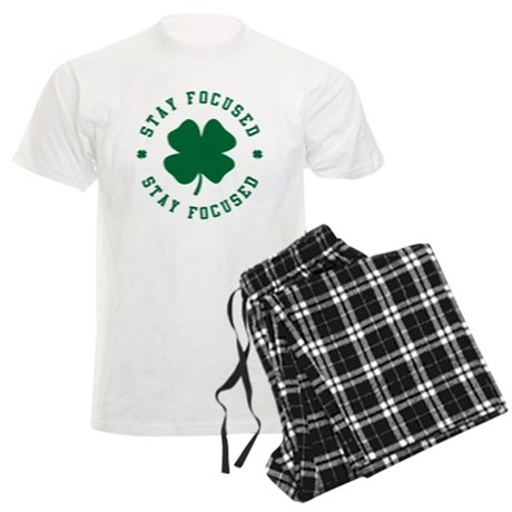 Irish Stay Focused Mens Light Pajamas
