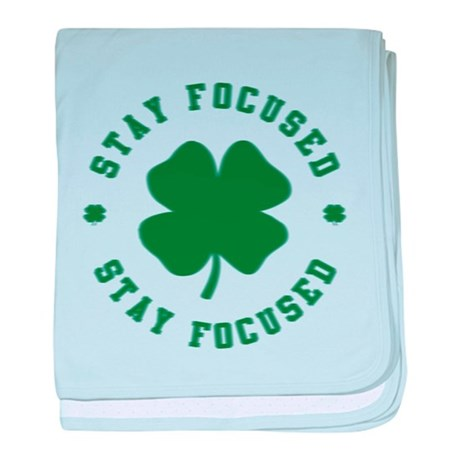 Irish Stay Focused baby blanket
