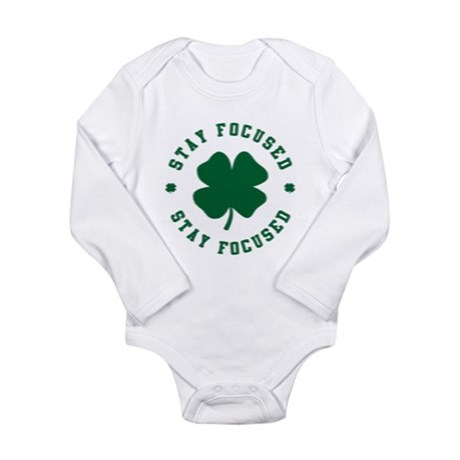 Irish Stay Focused Long Sleeve Infant Bodysuit