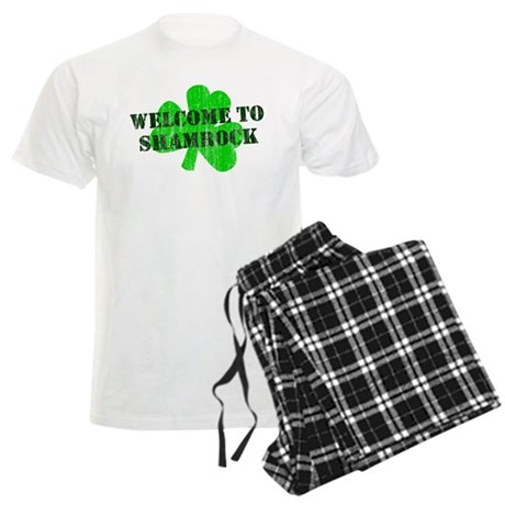 Welcome to Shamrock Mens Light Pajamas