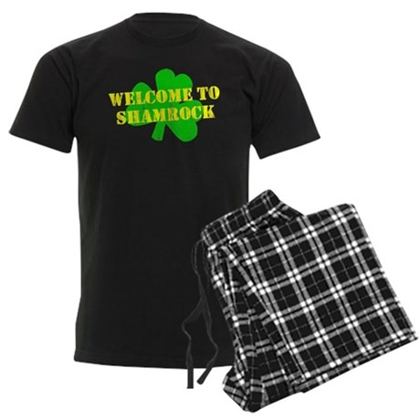 Welcome to Shamrock Mens Dark Pajamas