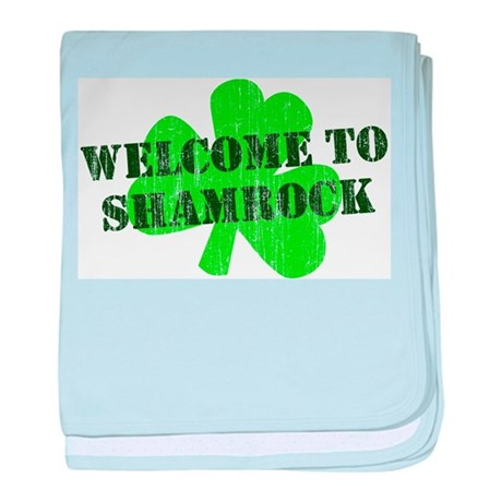 Welcome to Shamrock baby blanket