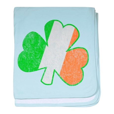 Vintage Irish Shamrock baby blanket