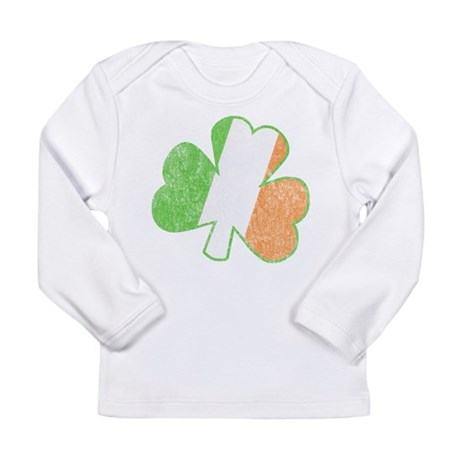 Vintage Irish Shamrock Long Sleeve Infant T-Shirt