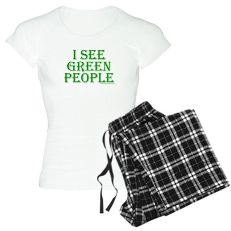 I see green people Womens Light Pajamas