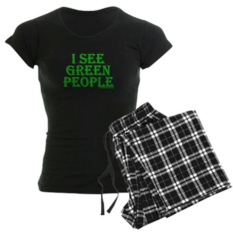 I see green people Womens Dark Pajamas