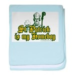 St. Patrick is my Homeboy baby blanket