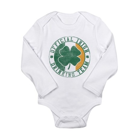 Official Irish Drinking Team Long Sleeve Infant Bo
