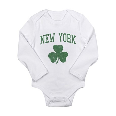 New York Irish Long Sleeve Infant Bodysuit