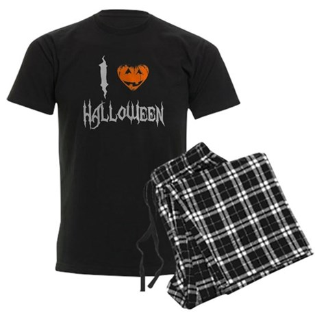 I Love Halloween Mens Dark Pajamas