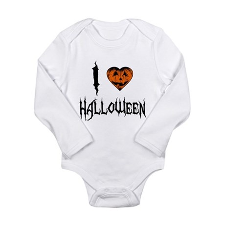 I Love Halloween Long Sleeve Infant Bodysuit