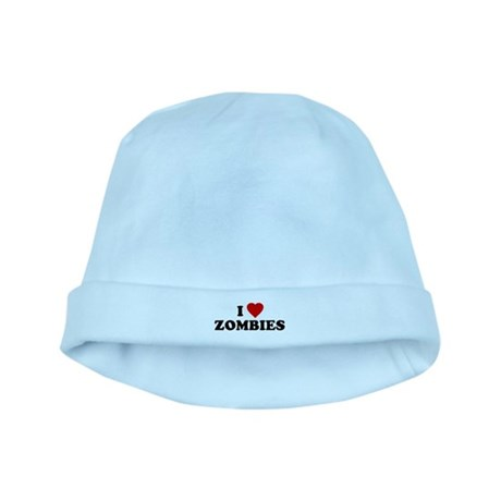I Love [Heart] Zombies baby hat