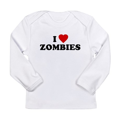 I Love [Heart] Zombies Long Sleeve Infant T-Shirt