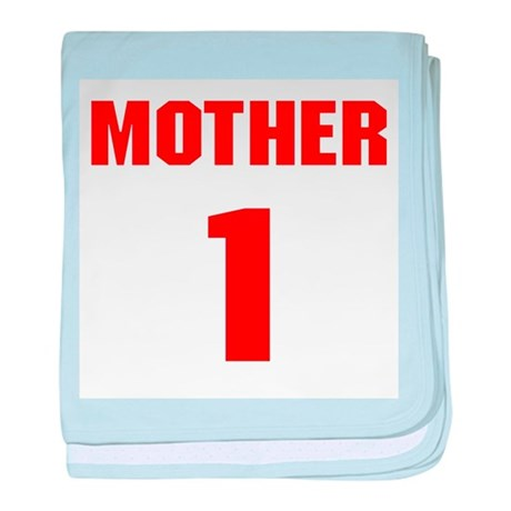 #1 Mother - Jersey baby blanket